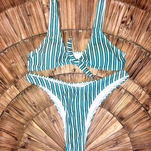 Other - New high waist knot front bikini stripes ADORABLE